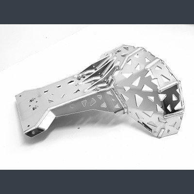Skid plate with exhaust pipe guard for KTM 2007 - 2016, Husaberg 2010 - 2014, Husqvarna 2014 – 2016