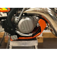 HDPE XTREM ORANGE 8MM SKID PLATE & LINKAGE GUARD KTM SX XCW 125 2017 - 2018