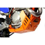 HDPE XTREM ORANGE 8MM SKID PLATE & LINKAGE GUARD KTM EXC F 450 500 2017 - 2018