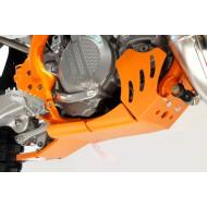 HDPE XTREM ORANGE 8MM SKID PLATE & LINKAGE GUARD KTM SX XC 250 300 2017 - 2018