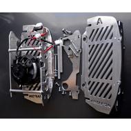 Hűtővédő + VENTILLÁTOR KIT (SPAL) KTM/HUSQVARNA EXC TE 2T 2017 and 2018 2T carburetor (!!!NEM TPI!!)