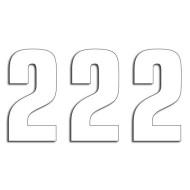 BLACKBIRD RACING WHITE NUMBER 3PCS 16X7,5 5048/10/2