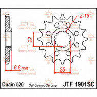 JT SPROCKETS FRONT SPROCKET / TEETH 13 / CHAIN SIZE 520 / MX SELF-CLEANING / STEEL JTF1901.13SC