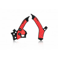 ACERBIS FRAME PROTECTOR X-GRIP CRF250L 13-19 (BLACK/RED * SILVER/RED) AC 0023405.