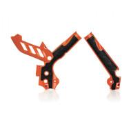 ACERBIS FRAME PROTECTOR X-GRIP KTM SX+SXF 11/15 + EXC+EXCF 12/16 (ORANGE * WHITE) AC 0017813.