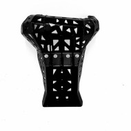 Skid plate with exhaust guard for KTM EXC / XC TPI and Husqvarna TE 2017 - 2019 BLACK
