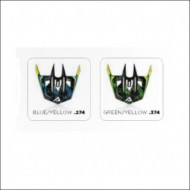 ACERBIS GIPSY VISOR REPLACEMENT (GREEN/YELLOW * BLUE/YELLOW) AC 0016819.