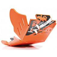 HDPE XTREM 8MM SKID PLATE & LINKAGE GUARD ORANGE KTM 250EXCF 350EXCF 2017 - 2019 AX1494