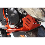 HDPE XTREM 8MM SKID PLATE & LINKAGE GUARD RED BETA 250RR 300RR 2018 - 2019 AX1527