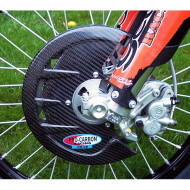 PRO-CARBON RACING Honda Front Disc Guard - Including Fitting Kit - All CR / CRF models from 2004-19