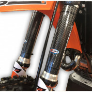 PRO-CARBON RACING KTM Upper Fork Protectors - 125 to 530 SX / EXC / XC - All years