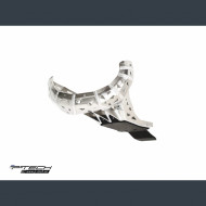 Skid plate with exhaust guard and plastic bottom for KTM Husqvarna XC SX TX EXC TE 250-300 2019-2020 PK016H