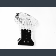 Skid plate with exhaust guard and plastic bottom for KTM EXC 250-300 Husqvarna TE 250-300 Husaberg TE 250-300 2007-2016