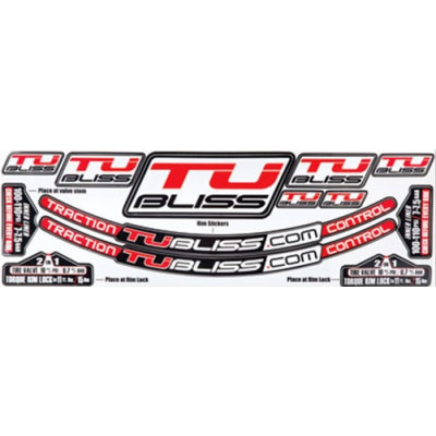 Nuetech Tubliss Gen2 (Tubeless) Tire System Rim Sticker Kit SK1