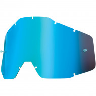 100% MIRROR BLUE REPLACEMENT LENS FOR 100% OFFROAD GOGGLES 51002-002-02