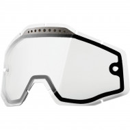 100% CLEAR VENTED DUAL REPLACEMENT LENS FOR 100% GOGGLES 51006-010-02