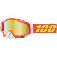 100% RACECRAFT RAZMATAZ OFFROAD GOGGLE W/ MIRROR GOLD LENS 50110-192-02