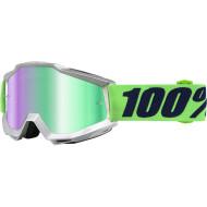 100% ACCURI NOVA OFFROAD GOGGLE W/ MIRROR GREEN LENS 50210-175-02