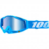 100% RACECRAFT MONOBLOCK OFFROAD GOGGLE W/ MIRROR BLUE LENS 50110-245-02