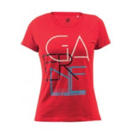 GAERNE G.AT YOUR FEET T-SHIRT  LADY (RED * WHITE) (XS * S * M * L * XL) 4216-005