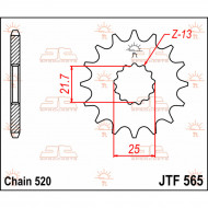 JT SPROCKETS FRONT REPLACEMENT SPROCKET 17 TEETH 520 PITCH NATURAL CHROMOLY STEEL JTF565.17