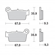 MOTO-MASTER BRAKE PAD OFFROAD SINTER PRO RACING 094511