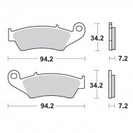 MOTO-MASTER BRAKE PAD OFFROAD SINTER PRO RACING 093411
