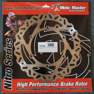 MOTO-MASTER BRAKE ROTOR FIXED NITRO CONTOURED NATURAL 110374