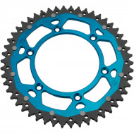 MOOSE RACING HARD-PARTS REAR SPROCKET / 50 TEETH / 520 PITCH / BLUE/NATURAL / ALUMINIUM/STEEL 1210-251-50-12X
